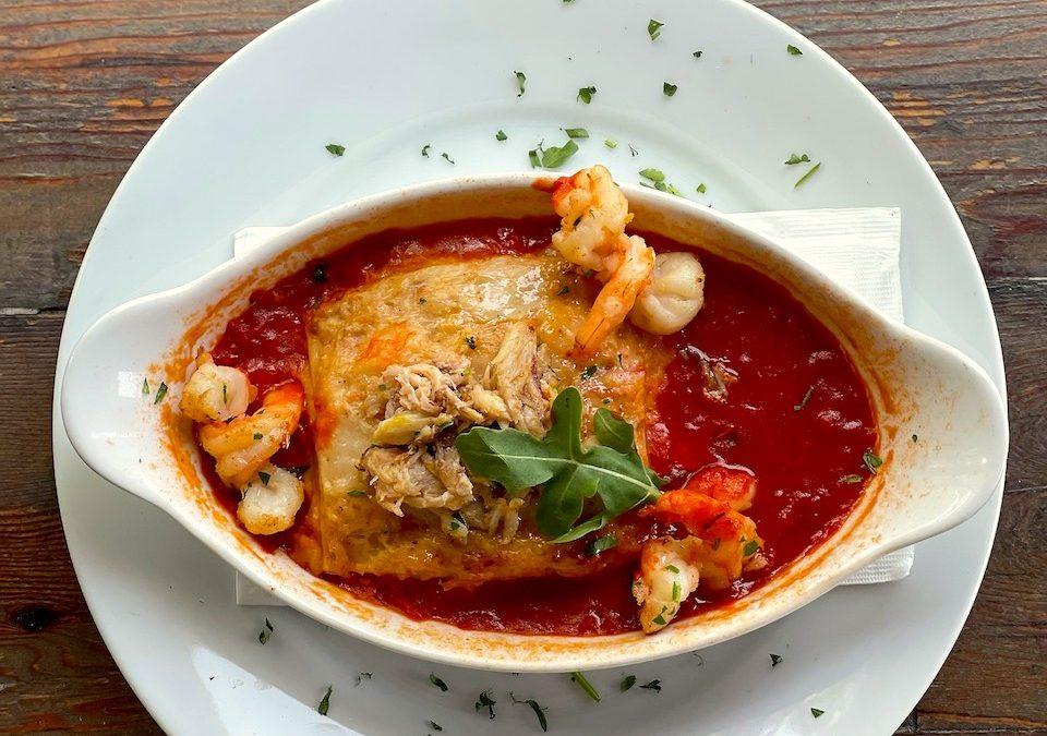 Celebrate Lasagna Day with Illando's Seafood Lasagna